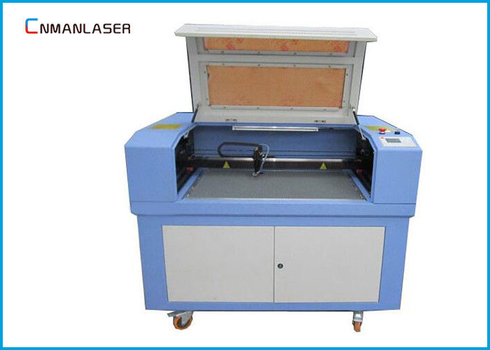 60w 80w Wood Leather Mini Laser Cutting Machine With Rotary Devices