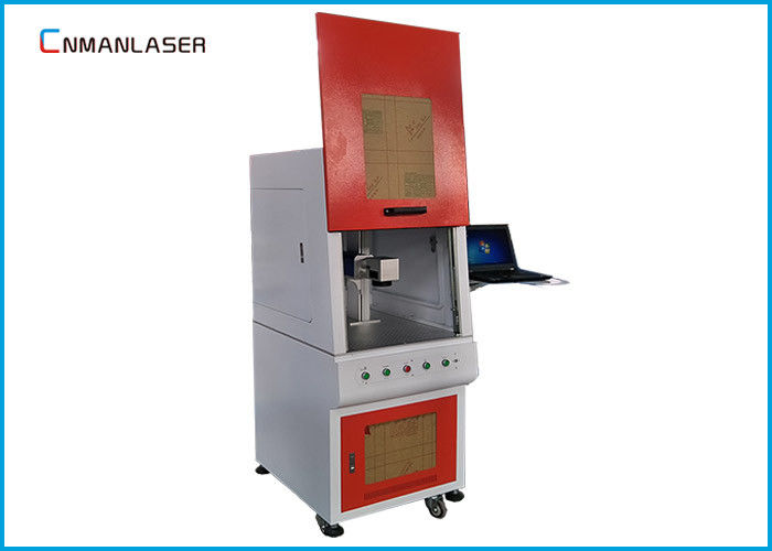 Big Size Enclosed Metal Laser Marking Machine , Fiber Optic Laser Engraving Machine